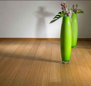 bamboo flooring with vases on it