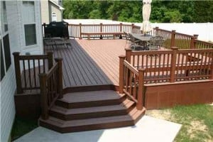 medium sized deck with natural materials