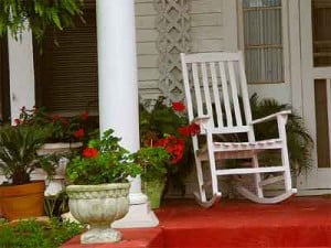 rocking chair on the front porch