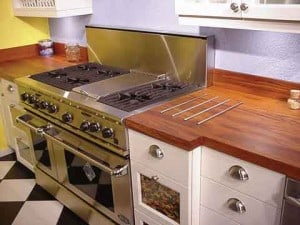 wood countertop made from teak wood