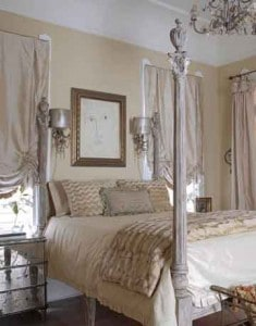 bedroom decor using fabric is awesome