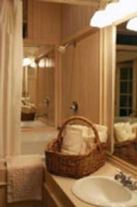 """powder rooms are a place that are commonly """"public"""" depending of course on how many bathrooms you have."""