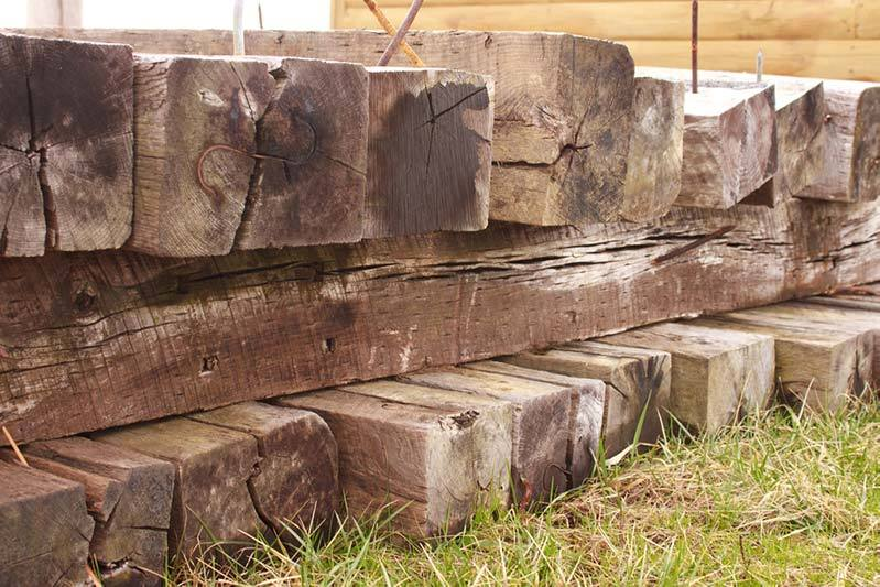 stack of railroad ties